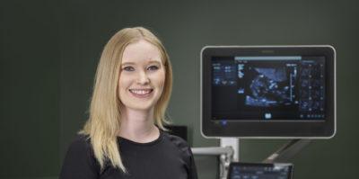Ultrasound technologist and machine